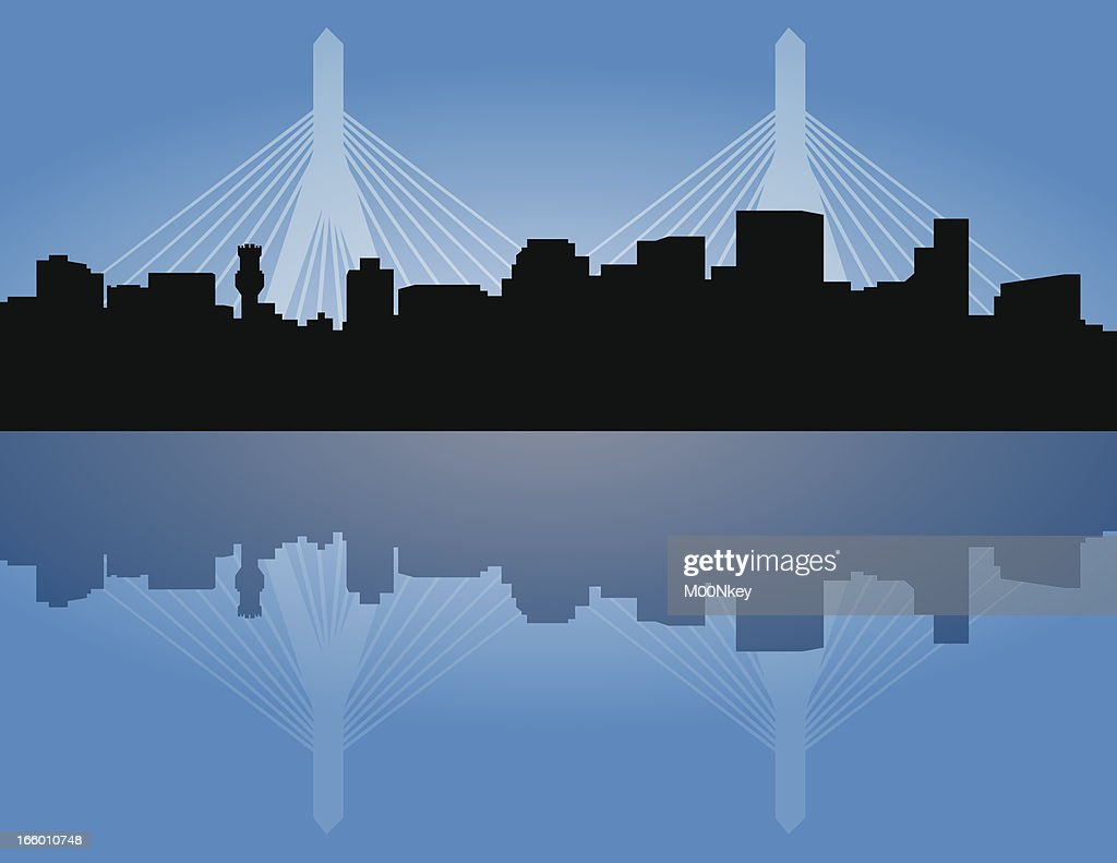 Boston Skyline with Zakim Bridge