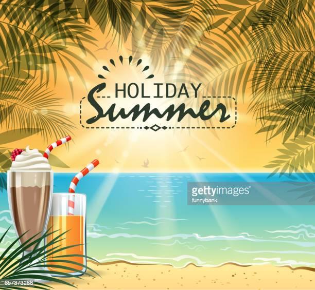 botanic beach - fruit juice stock illustrations, clip art, cartoons, & icons
