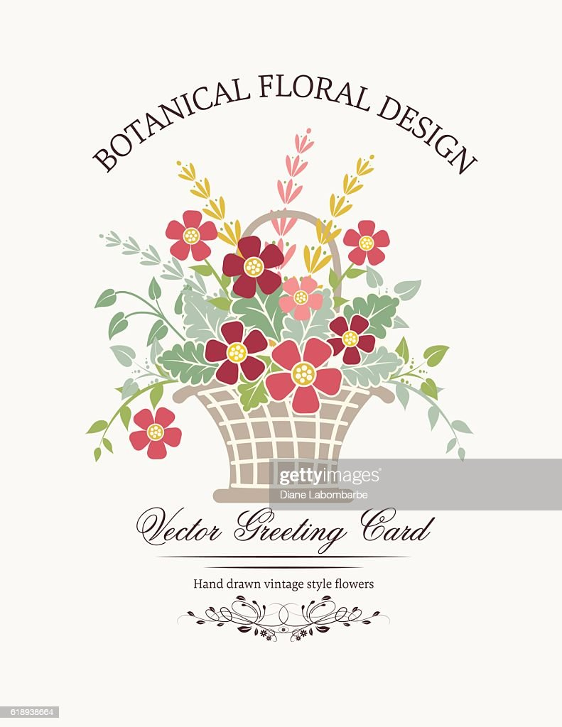 botanical flowers invitation template ベクトルアート getty images