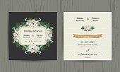 Botanical Leaves & Flowers Invitation Card