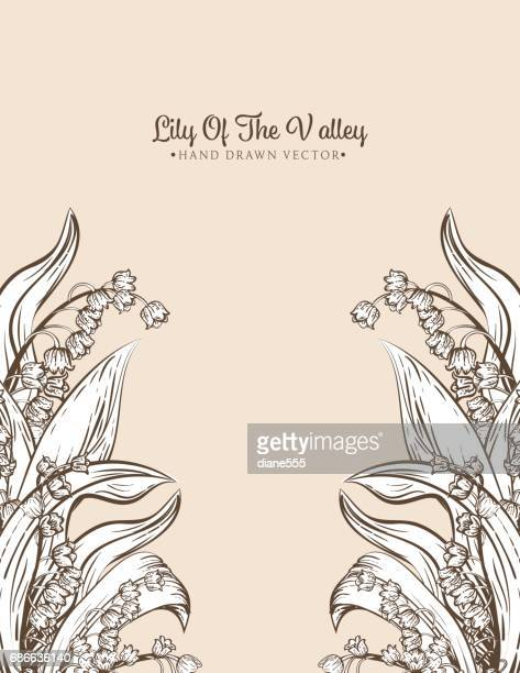 lily of the valleyのイラスト素材と絵 getty images