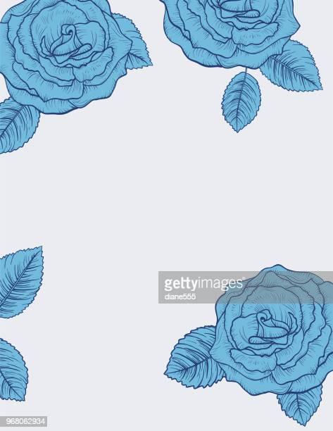 60点の青いバラのイラスト素材クリップアート素材マンガ素材