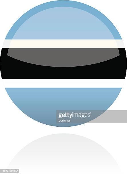 botswana, africa flag button - botswana stock illustrations, clip art, cartoons, & icons