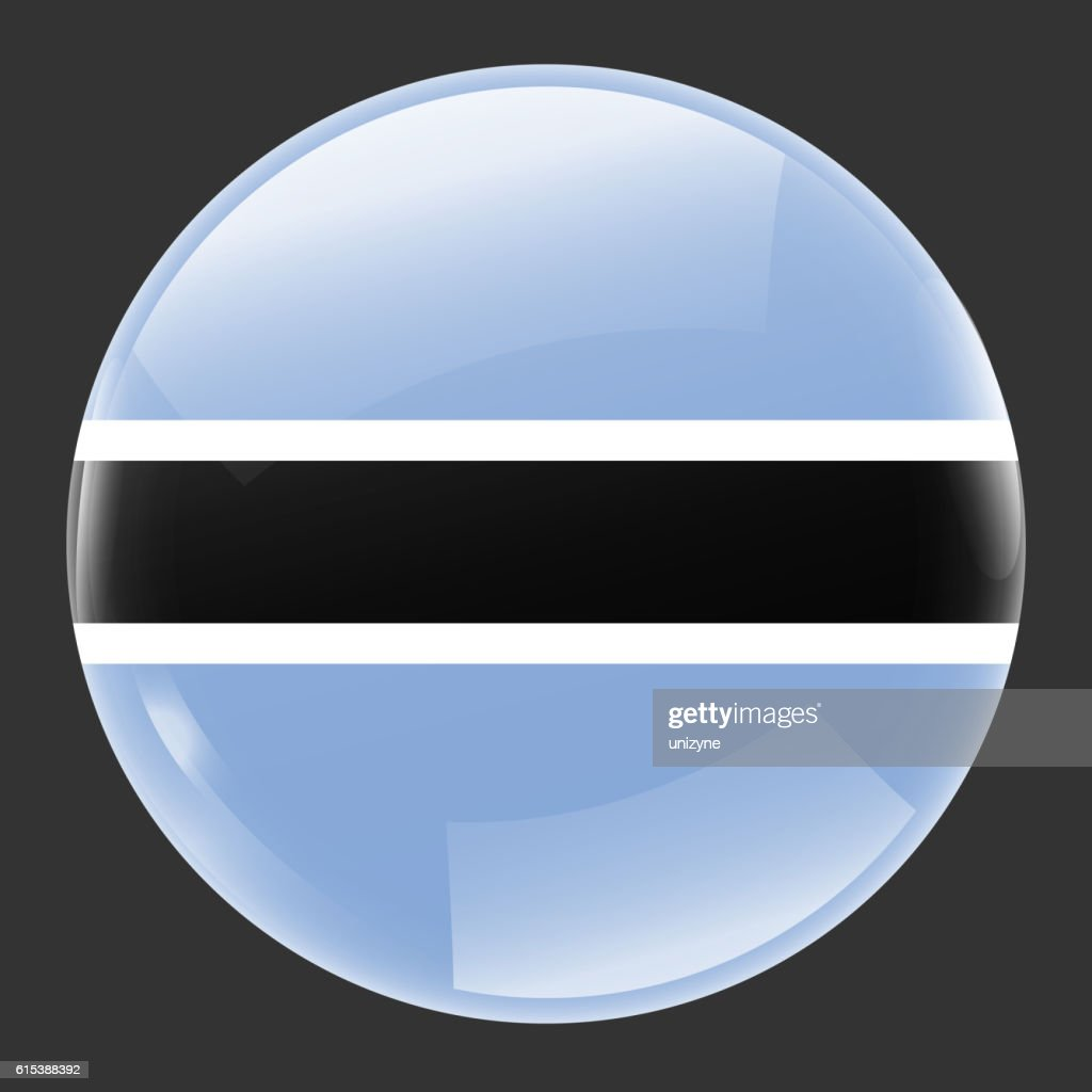 Botswana Flag Glossy Button Stock Illustration - Getty Images