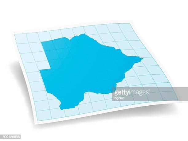 botswana map isolated on white background - botswana stock illustrations, clip art, cartoons, & icons