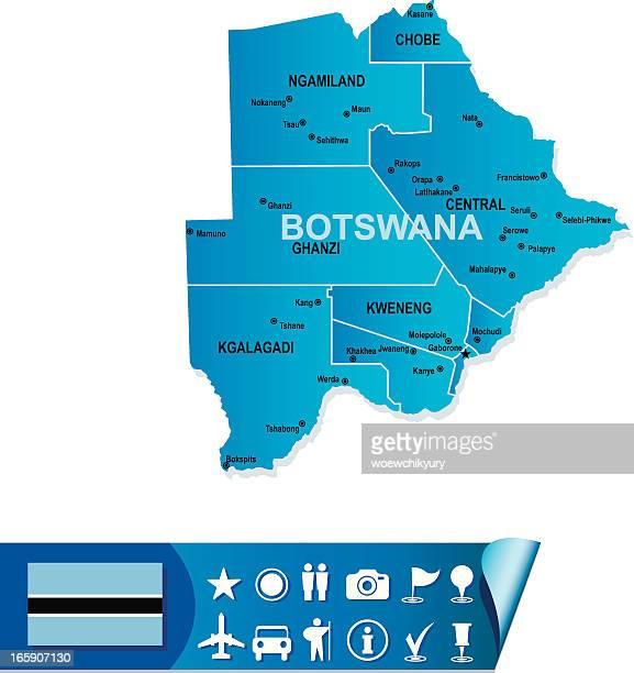 botswana map - botswana stock illustrations, clip art, cartoons, & icons