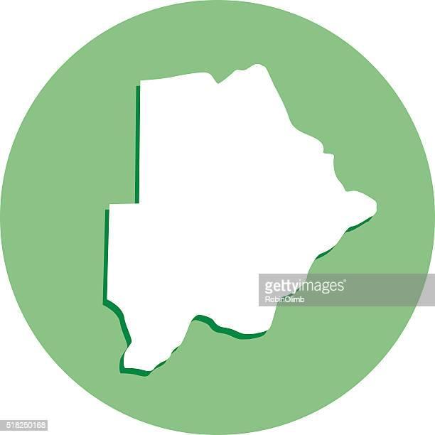 botswana round map icon - botswana stock illustrations, clip art, cartoons, & icons