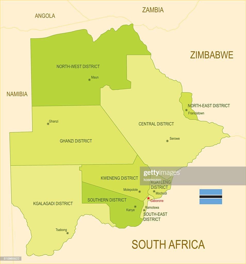 Botswana : stock illustration