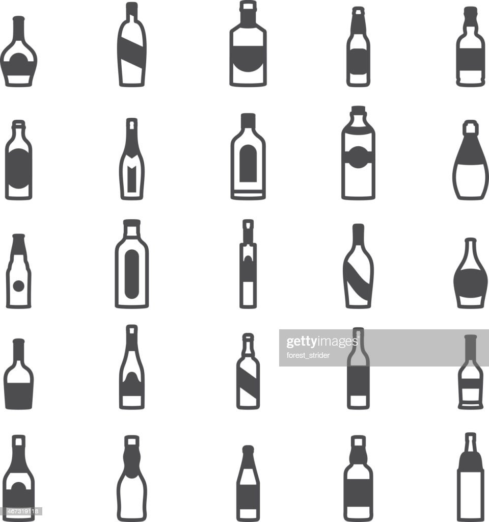 Bottle alcohol icons