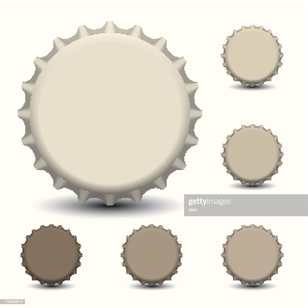 Bottle caps vector isolated on white background