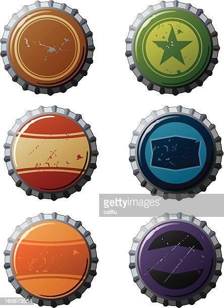 Bottle Caps with Retro Designs