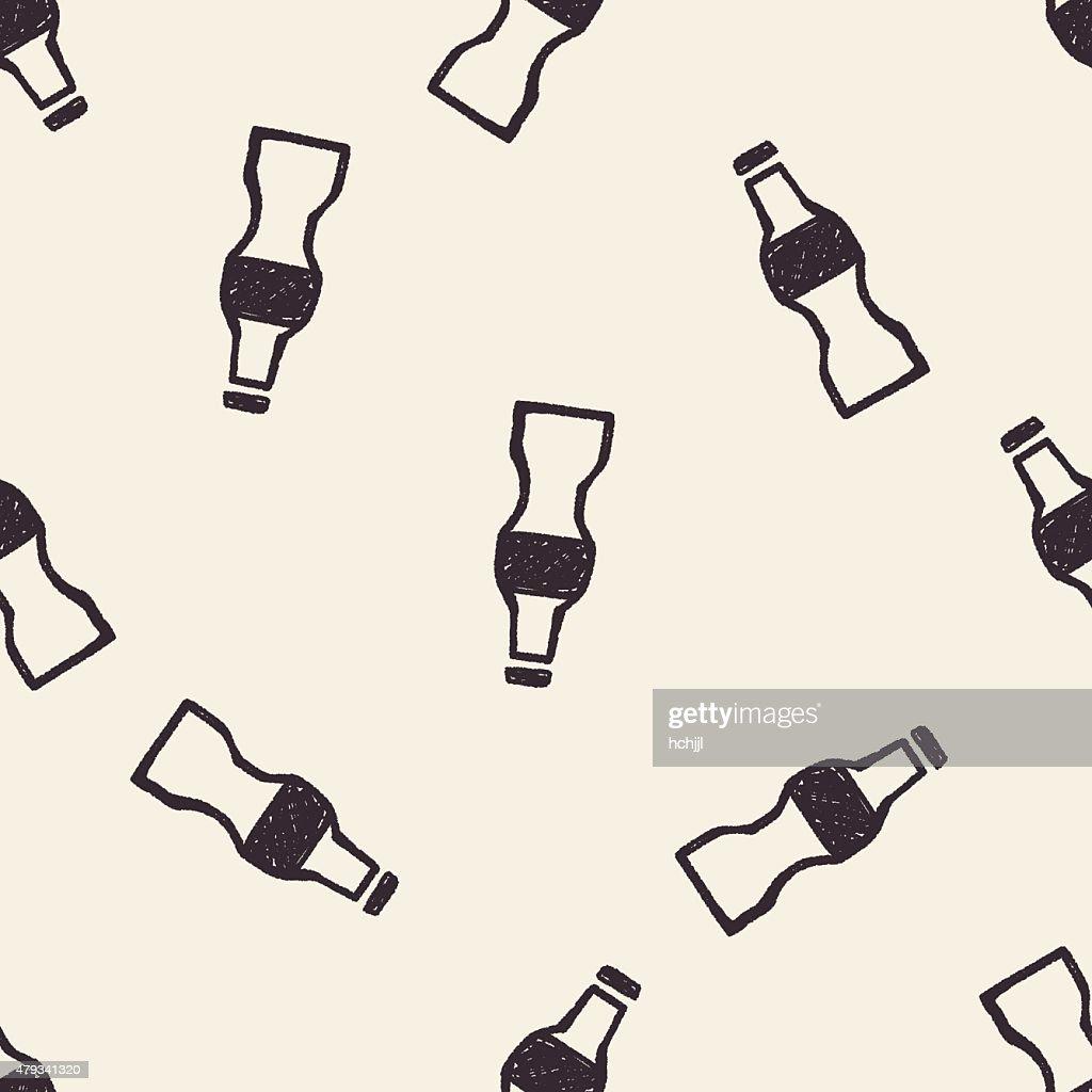 bottle doodle seamless pattern background