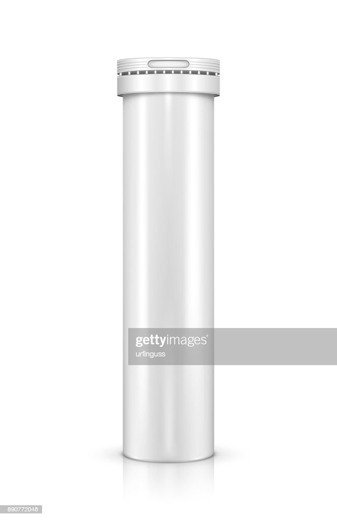 Bottle for vitamin tablets isolated