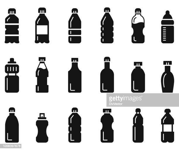 Bottle icon set