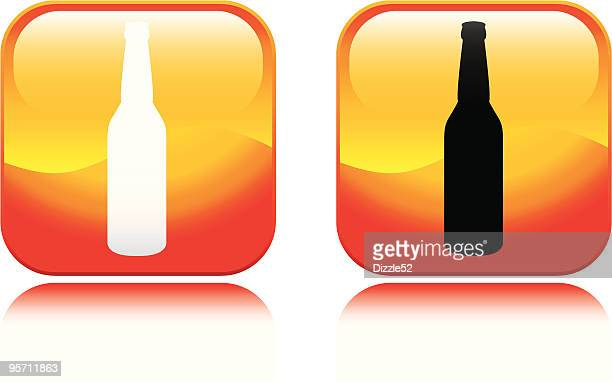 bottle icon - lager stock illustrations, clip art, cartoons, & icons