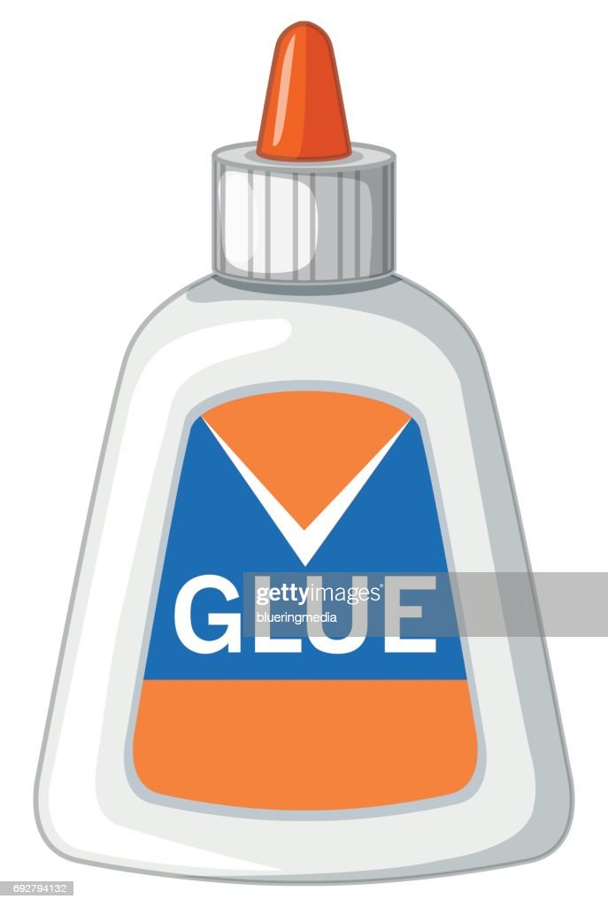 Bottle of latex glue
