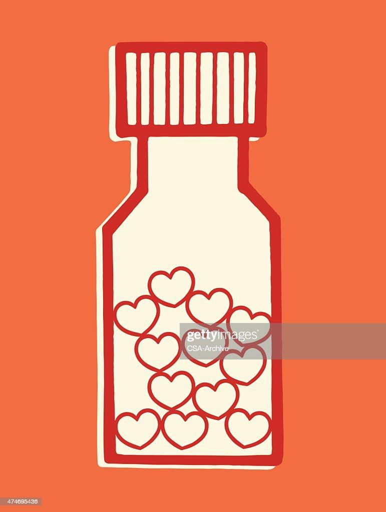 Bottle of Love Pills : Stock Illustration