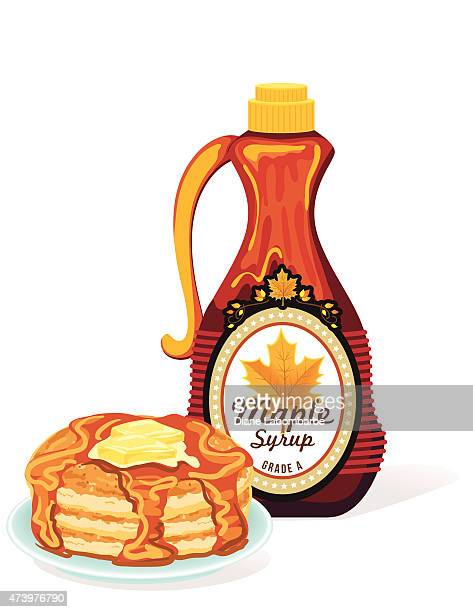 Bottle Of Maple Syrup Pancakes