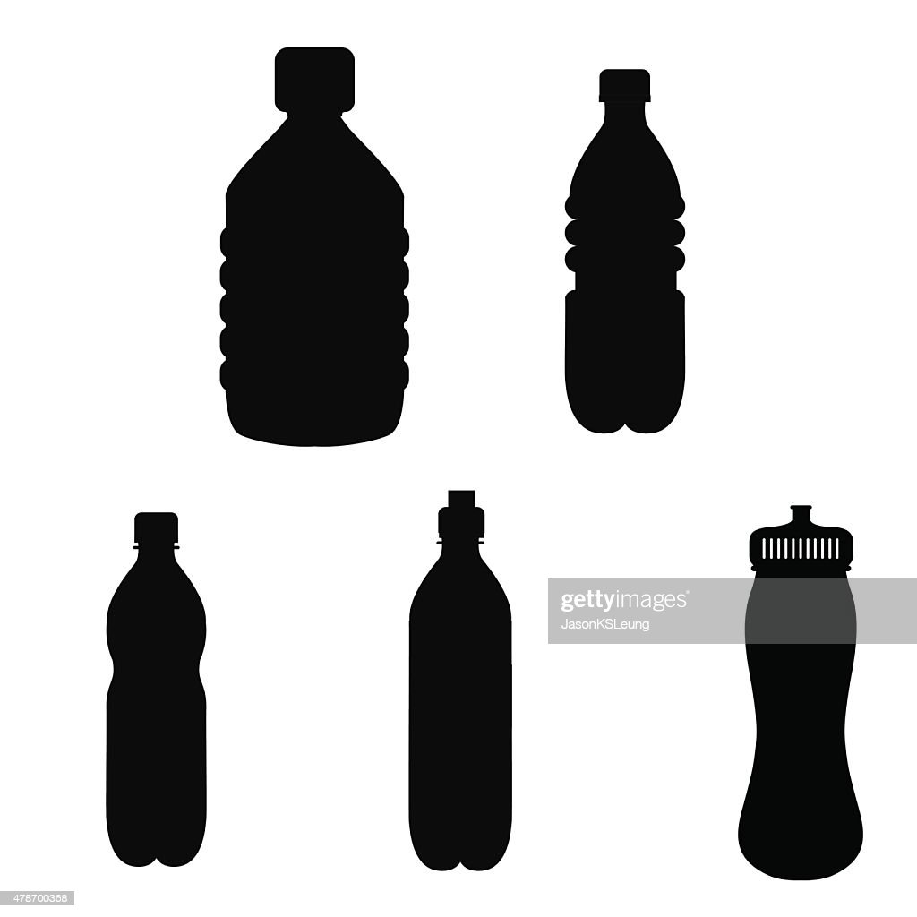 Bottle Silhouette Icons- Vector
