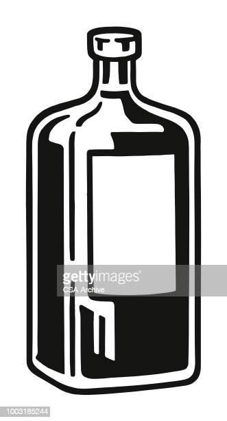 bottle - vodka drink stock illustrations, clip art, cartoons, & icons