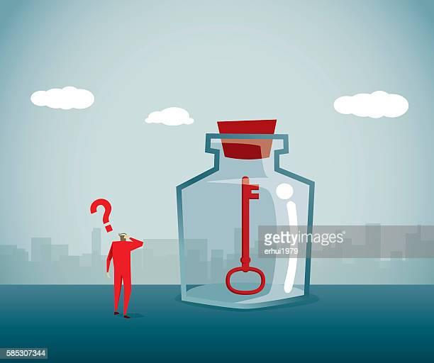 bottle - denial stock illustrations, clip art, cartoons, & icons