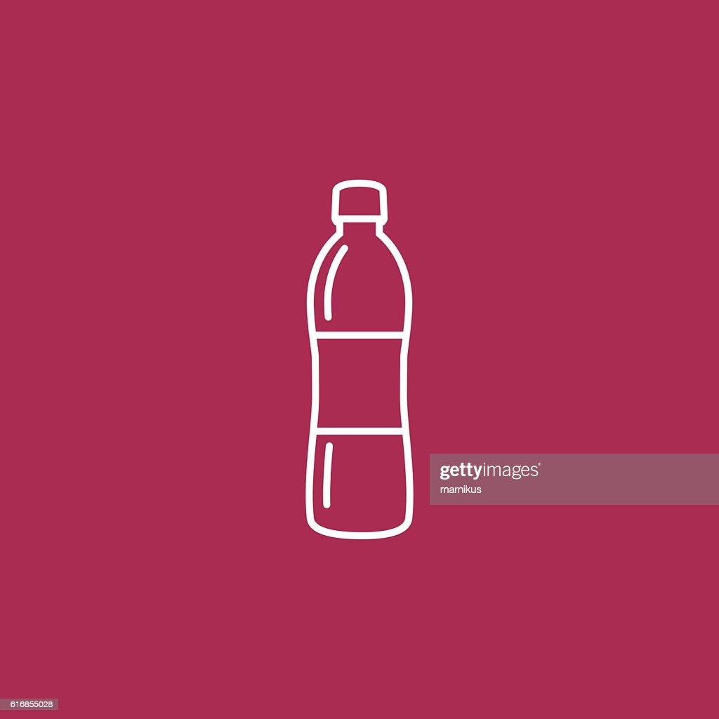 Bottle water Icon : Vector Art