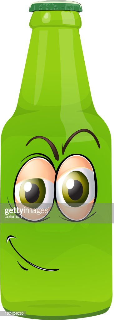 Bottle with face : Vector Art
