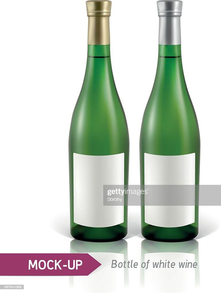bottles of white wine