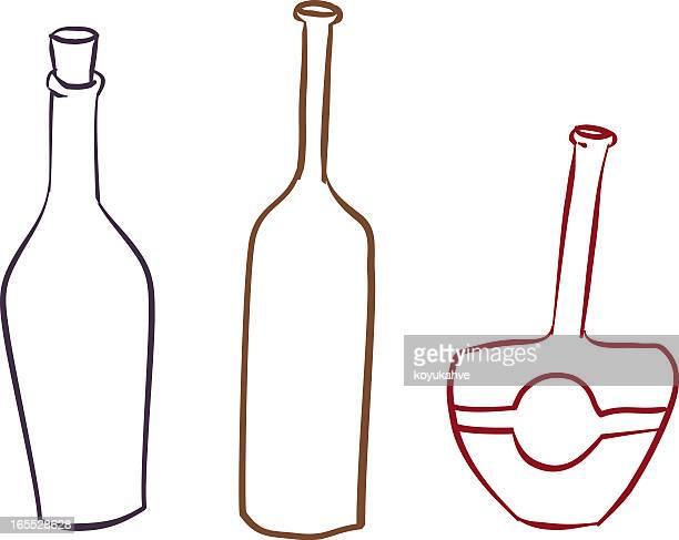 bottles - vodka stock illustrations, clip art, cartoons, & icons