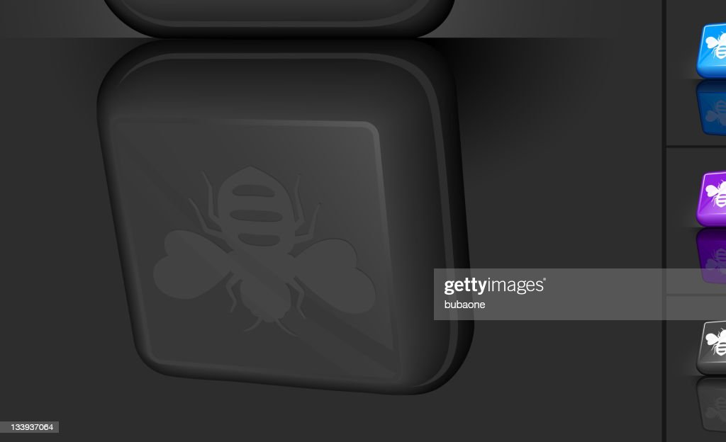 3-D bottom with bee icon next to four multicolored buttons