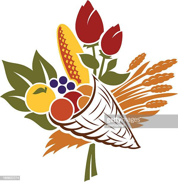 bountiful produce in shape of maple leaf