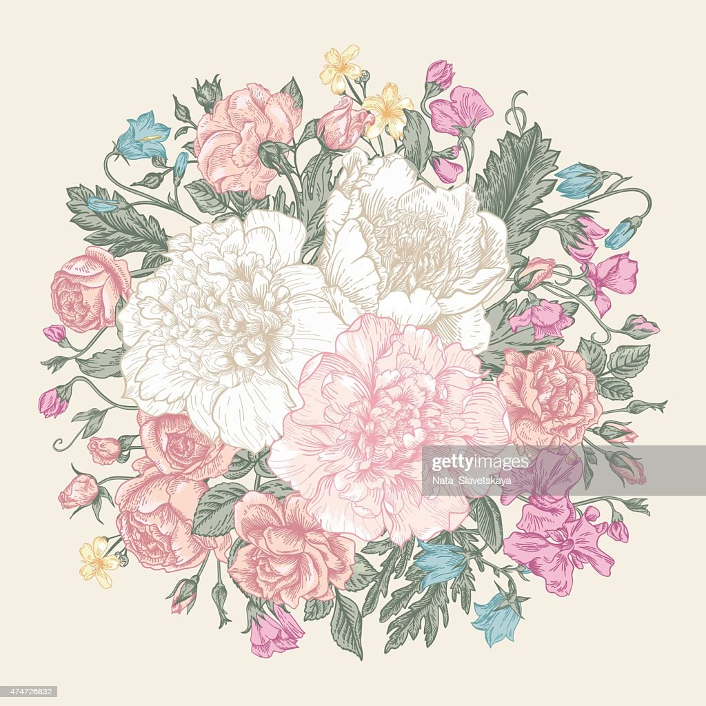 Bouquet of summer flowers.