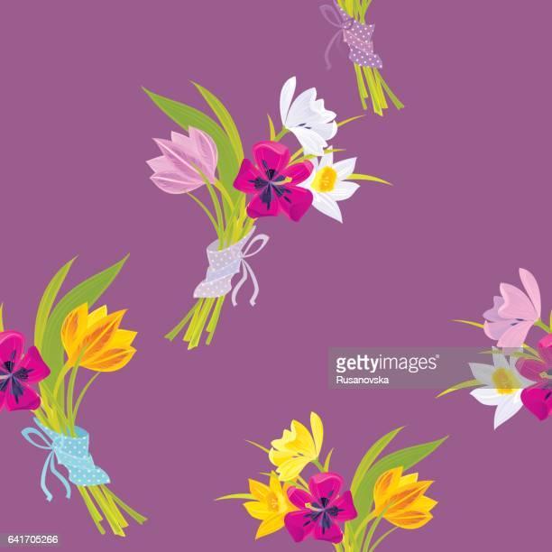 チューリップと水仙の花束