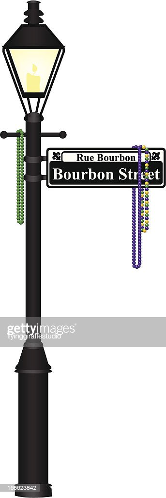 Bourbon Street Lamp Post : stock illustration