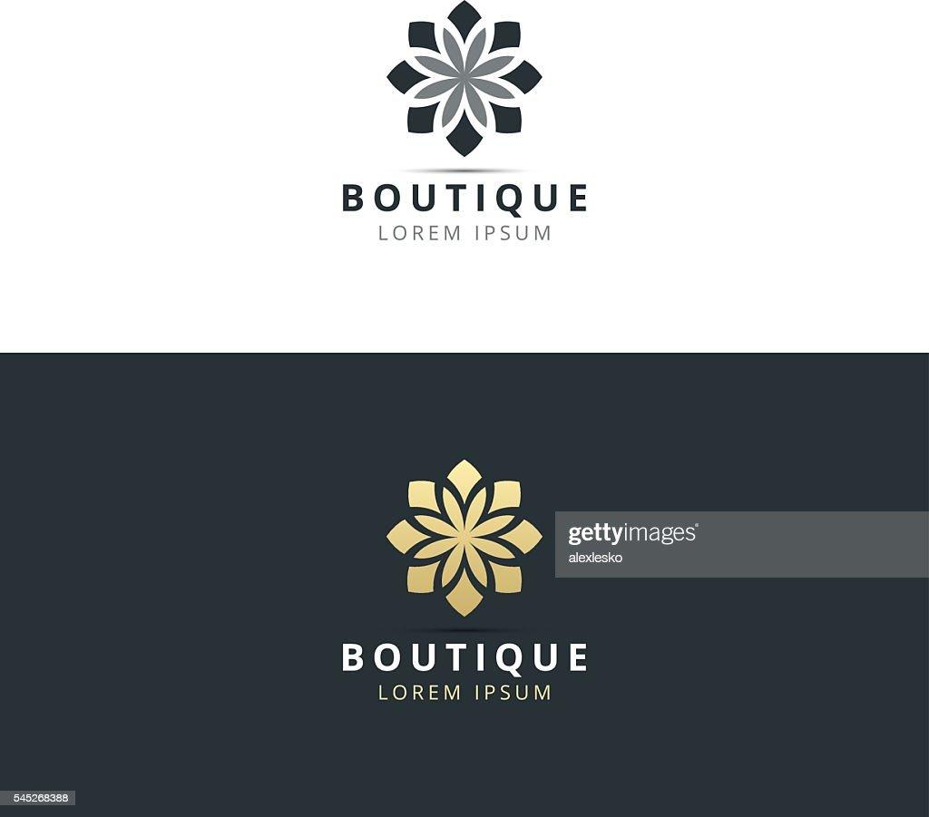 boutique logo design vector