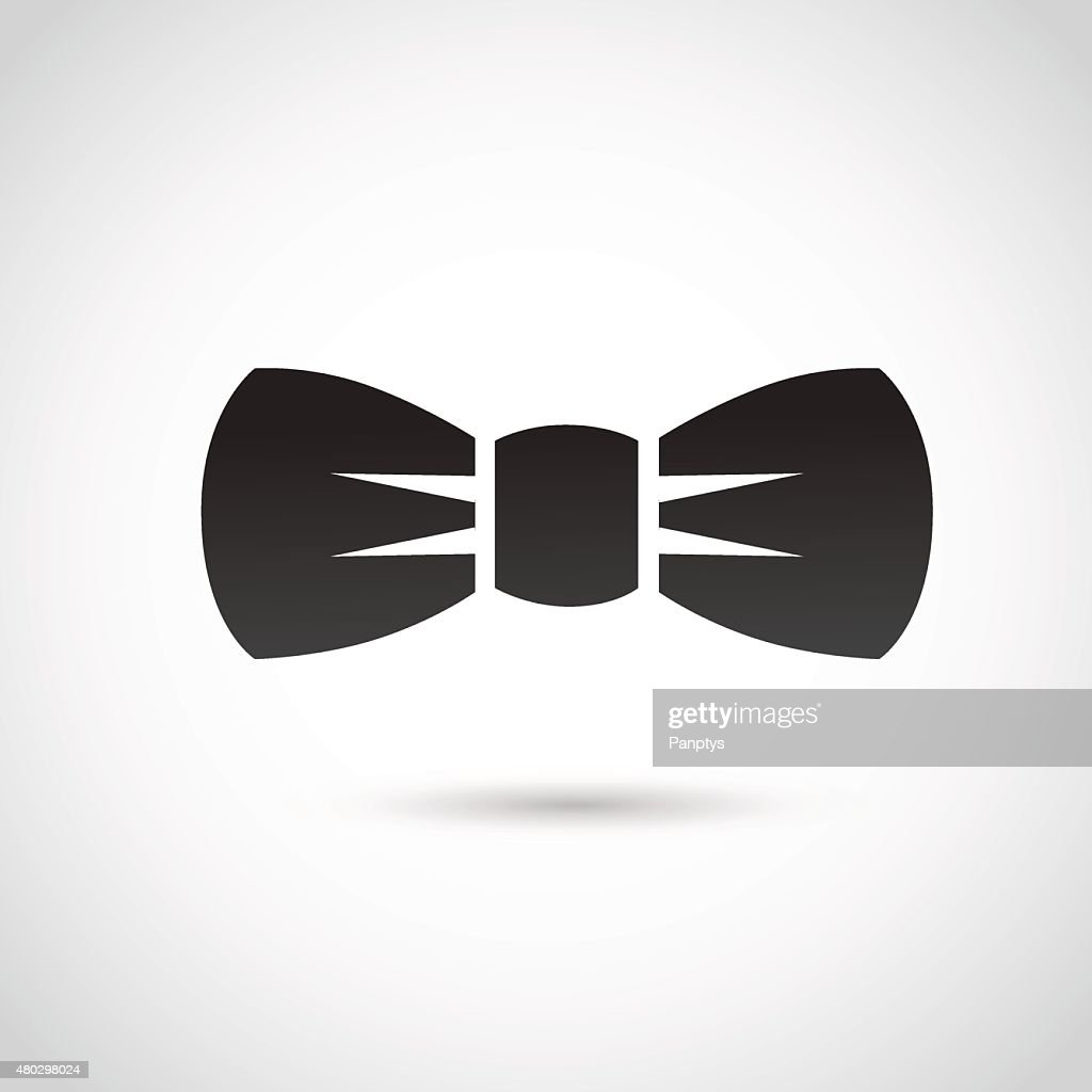 Bow icon isolated on white background.
