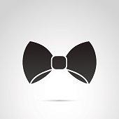 Bow icon isolated on white background.
