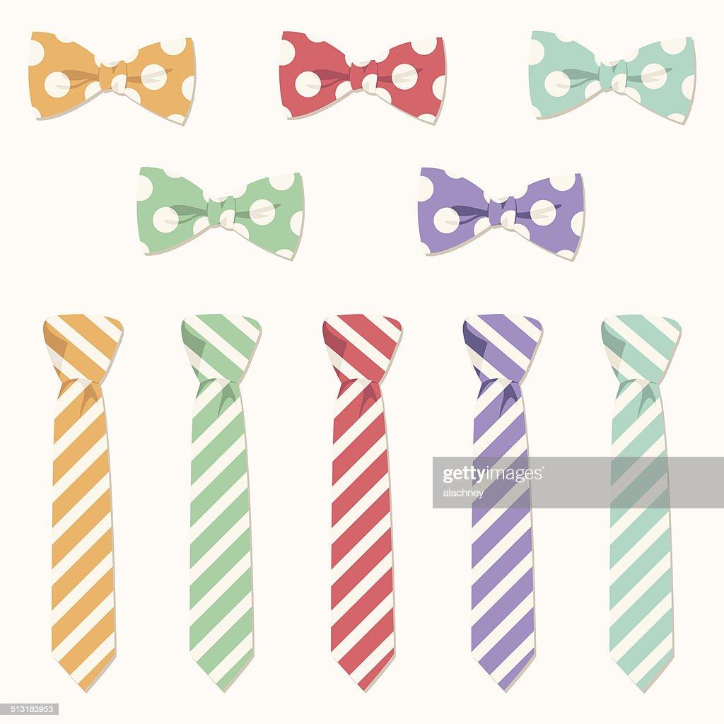 Bow Tie and Necktie Set