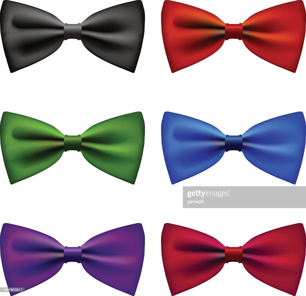 Bow tie colors vintage set