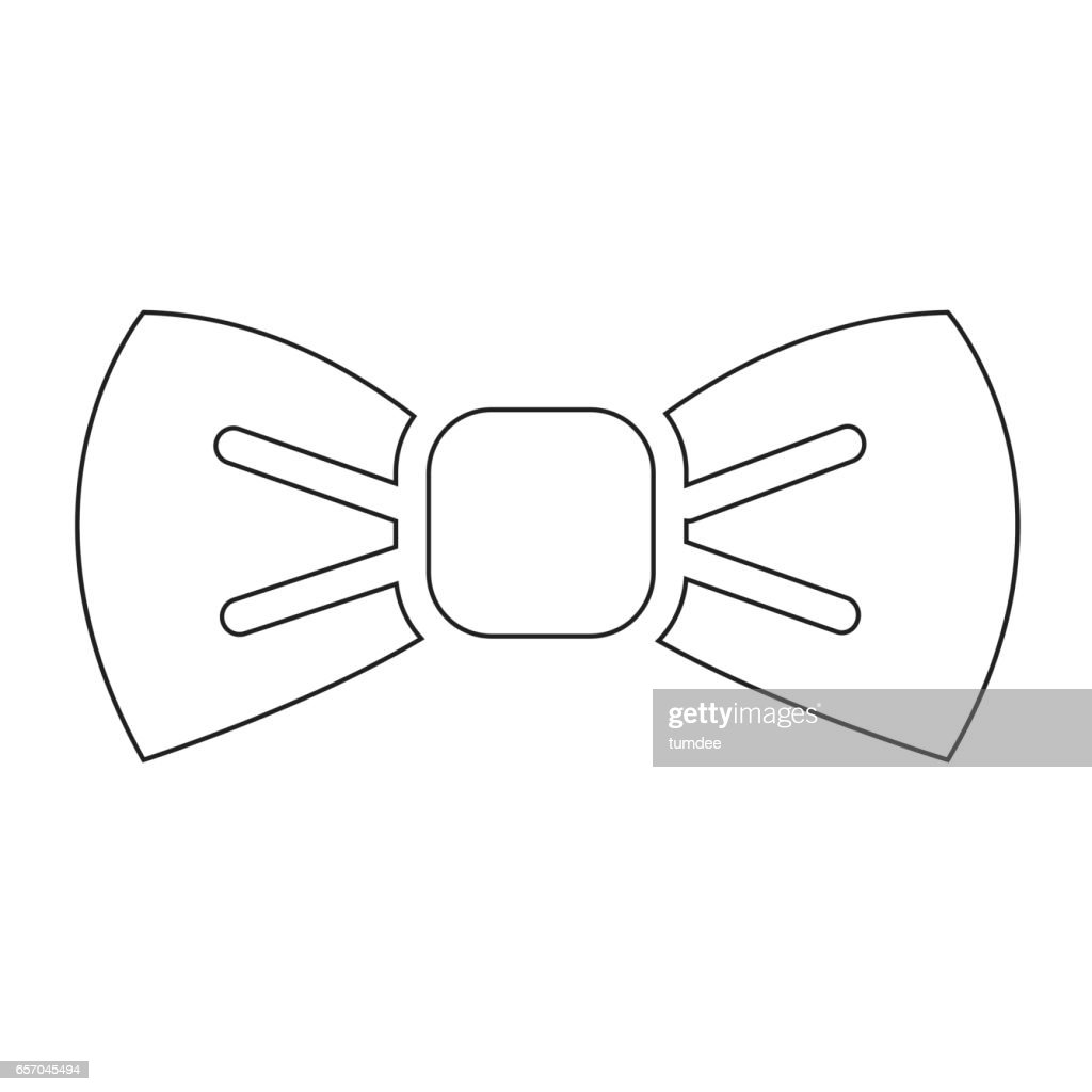 Bow Tie Icon Illustration Symbol Design Vector Art Getty Images
