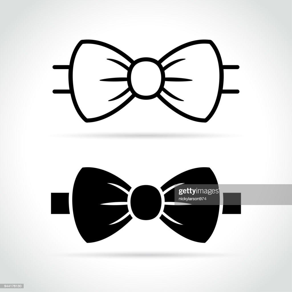 bow tie icon on white background