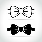 bow tie icon on white background
