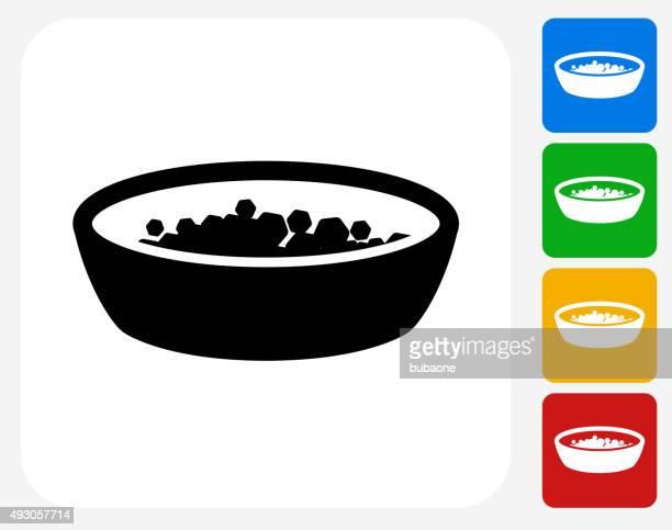 Bowl und Anzahlungen Symbol flache Grafik Design
