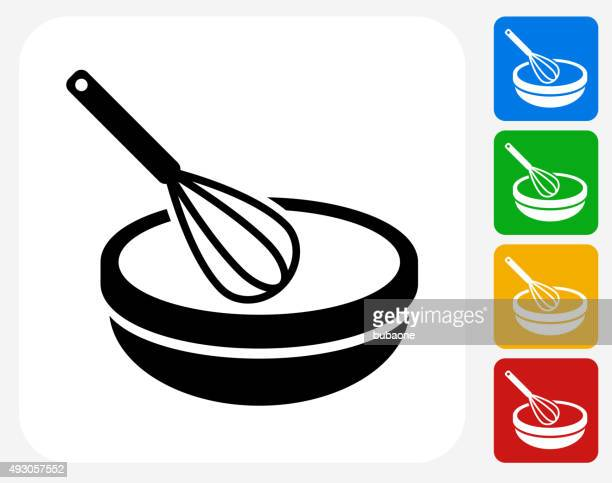 Bowl and Whisker Icon Flat Graphic Design