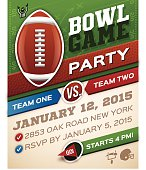 Bowl Game Football Invitation
