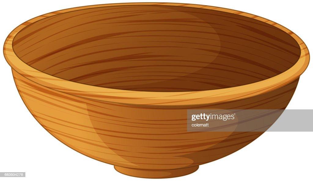 Bowl made of wood