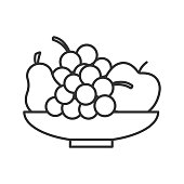 Bowl with fruit icon