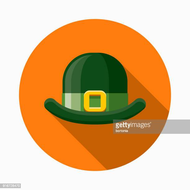 Bowler Cap Flat Design St. Patrick's Day Icon