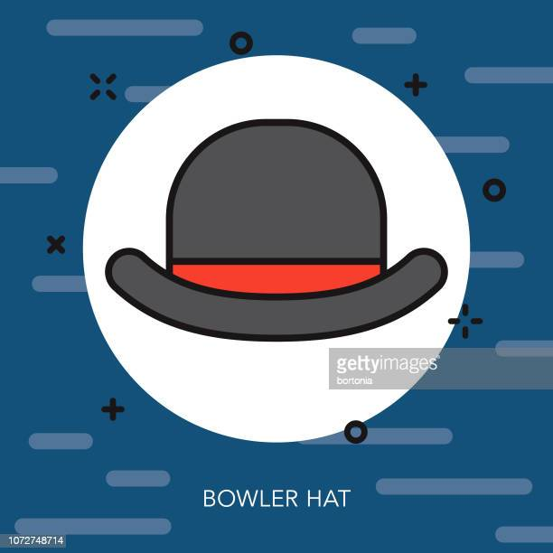 Bowler Hat Thin Line United Kingdom Icon