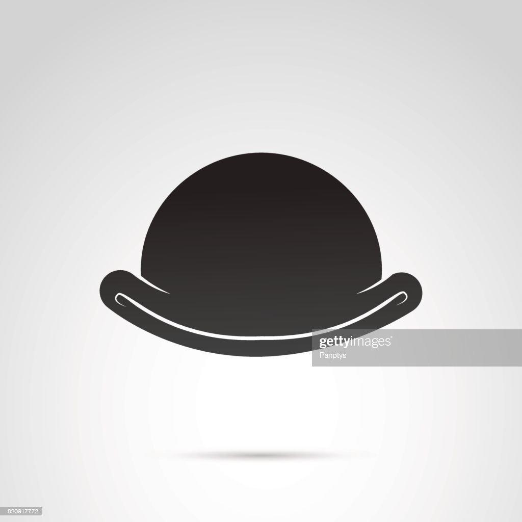 Bowler icon isolated on white background.